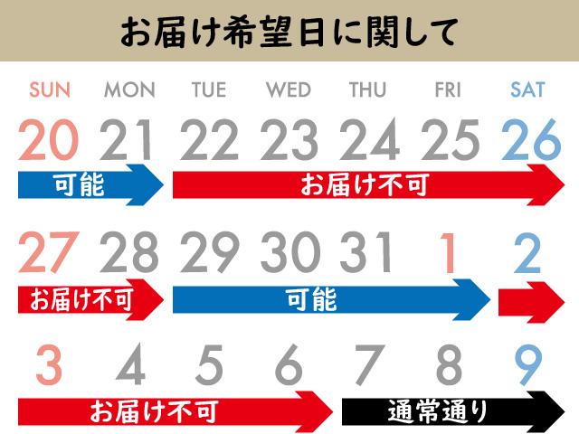 パイサク配送カレンダー